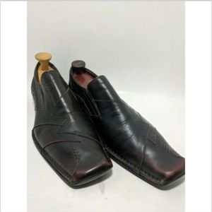 Aldo Brown Red Stitched Men's Dress Shoes